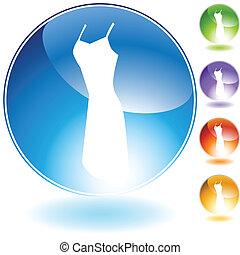 Strap Dress Crystal Icon