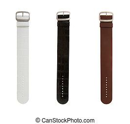 Strap on a wristwatch