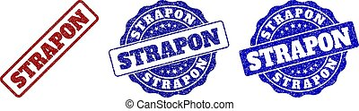 STRAPON Scratched Stamp Seals - STRAPON scratched stamp...