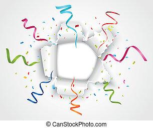 strappato, carta, celebrazione