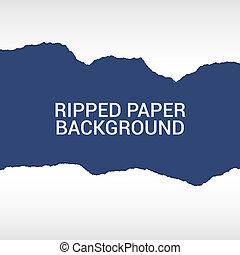 strappato, carta, fondo, pezzi