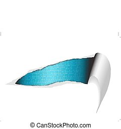 strappato, vettore, -, carta, fondo, digitale