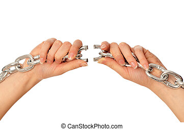 strappo, uno, pesante, catena