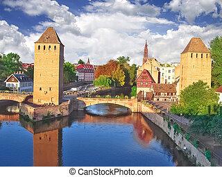 strasbourg., altes , frankreich