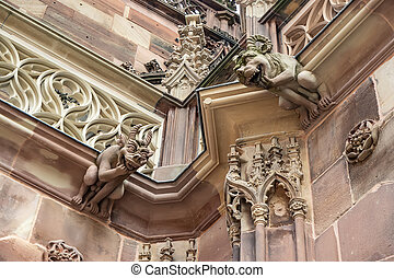 Strasbourg Cathedral is a Gothic Roman Catholic cathedral in Strasbourg, Alsace, France. Architecture Details