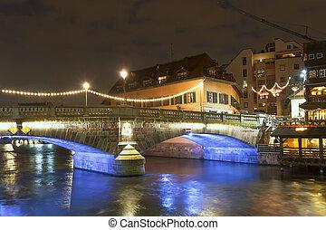 """Strasbourg. District """"little France"""" France.Europe."""