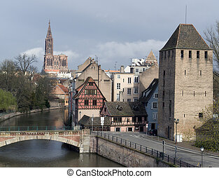 Strasbourg scenery with cathedral