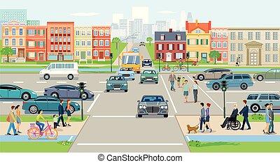 Strasse-Kreuzung-Ort