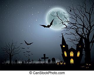 straszliwy, halloween, tło