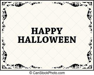 straszliwy, październik, card., ułożyć, halloween, powitanie...