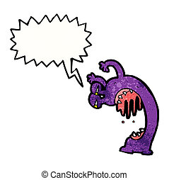 straszliwy, potwór, rysunek