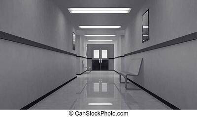 straszliwy, szpital, 4, korytarz