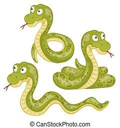 straszliwy, węże, ilustracja