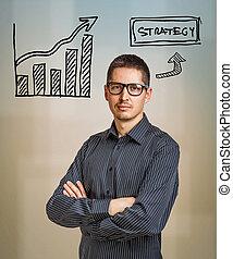 stratégie, concept affaires