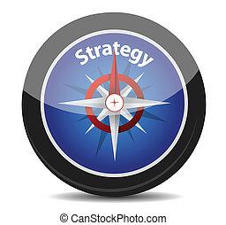 stratégie, concept, compas