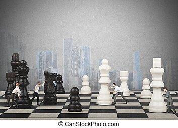 stratégie, et, tactique, dans, business