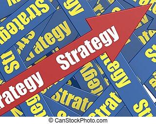 stratégie, flèche
