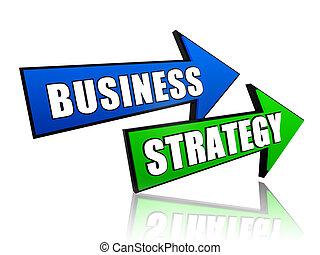 stratégie, flèches, business