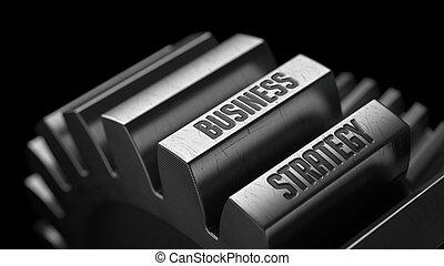 stratégie, gears., métal, business