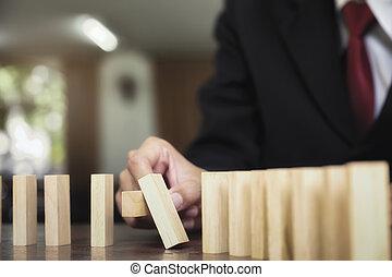 stratégie, risque, gestion, concept., planification