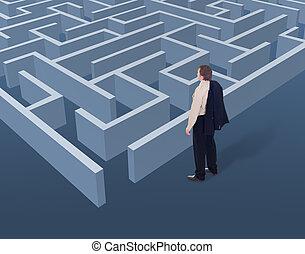 stratégique, vision, pensée, business