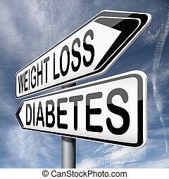 strata, albo, ciężar, cukrzyca
