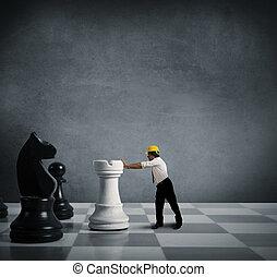 strategi, in, affär
