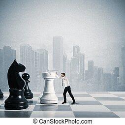 strategi, og, taktik, ind, firma