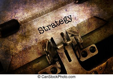 strategi, text, på, årgång, skrivmaskin
