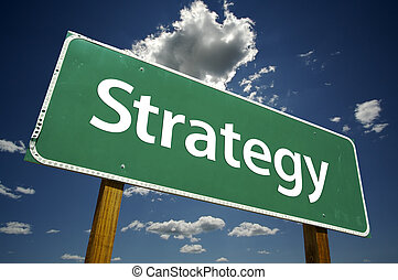 strategi, vägmärke
