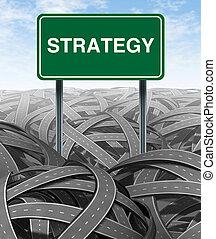 strategia affari, e, sfida