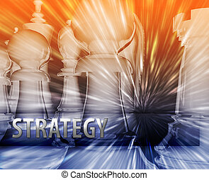 strategia affari, illustrazione