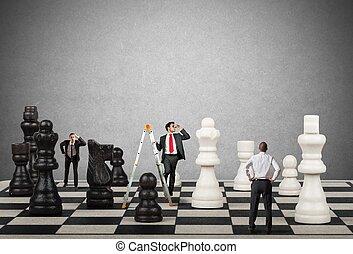 strategia, e, tattica, in, affari