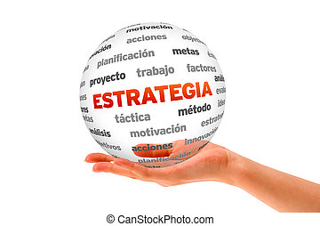 strategia, parola, sfera, (in, spanish)
