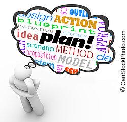 strategia, pensiero, immaginazione, pensatore, ...