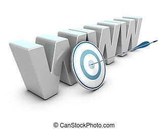 strategia, sieć, handel, handlowy, internet