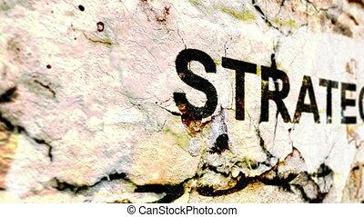 strategia, tekst, grunge, pojęcie