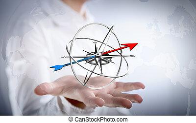 strategia, tuo, scopo, affari