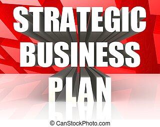 Strategic business plan - Hi-res original 3d rendered...