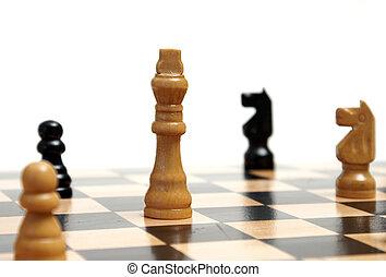 Strategic Gaming - A closeup shot of a strategic game of...