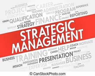 Strategic Management word cloud collage