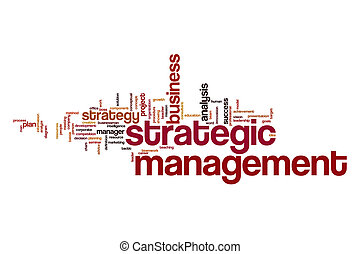 Strategic management word cloud concept