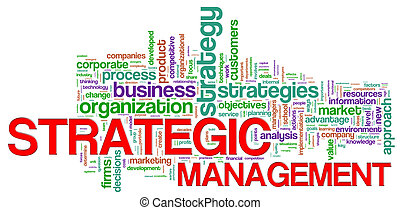 Strategic management word tags