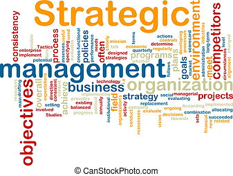 Word cloud tags concept illustration of strategic management