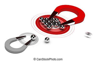 Strategic Marketing Strategy - horseshoe magnet with many...