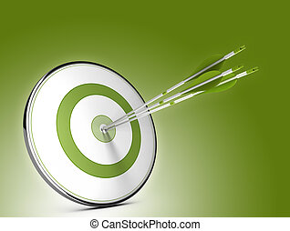 Strategic Objectives - Three arrows hitting the center of a...