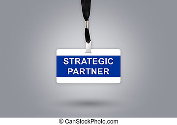 Strategic partner on badge