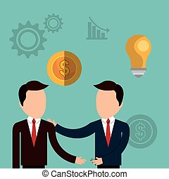 strategic partnership design, vector illustration eps10 ...