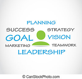 Strategic planning vector background
