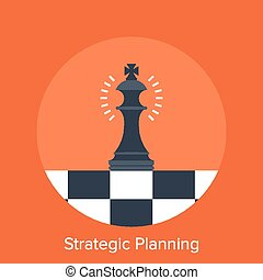 Strategic Planning - Vector illustration of strategic...
